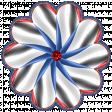 Patriotic Kaleidoscope - Flower 5 with Gem