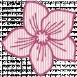 Seersucker Summer - Flower 1 - Pink