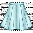 Seersucker Summer - Skirt 1 - Teal