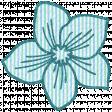 Seersucker Summer - Flower 1 - Teal