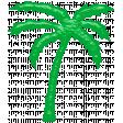 Glassy Beach - Palm Tree 1