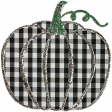 Fall Black & Orange Gingham - Pumpkin 1 - Black Gingham