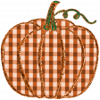 Fall Black & Orange Gingham - Pumpkin 2 - Orange Gingham