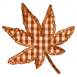 Fall Black & Orange Gingham - Leaf Fall 2 - Orange Gingham
