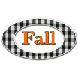 Fall Black & Orange Gingham - Fall Oval 1