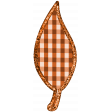 Fall Black & Orange Gingham - Leaf Fall 4 - Orange Gingham