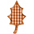 Fall Black & Orange Gingham - Leaf Fall 5 - Orange Gingham