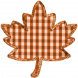 Fall Black & Orange Gingham - Leaf Fall 3 - Orange Gingham