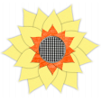 Fall - Sunflower Gingham - Sunflower 1
