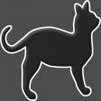 Happy Halloween 1 - Cat B & W