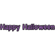Happy Halloween 1 - Words - Happy Halloween Purple