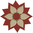Rustic Christmas - Flower Poinsetta Red