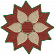 Rustic Christmas - Flower Poinsetta Red & Green