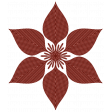 Rustic Christmas - Flower 3 Red