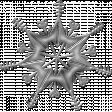 Silver Metallic Snowflake 3