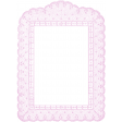 Antique Paper Lace Frame 7 - Pink