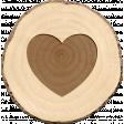 Spread Your Wings - Tree Slice Heart