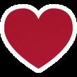 Christmas Day_Sticker Heart 2 Red Dark