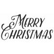 Christmas Day_Sticker Merry Christmas Black