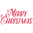 Christmas Day_Sticker Merry Christmas Red