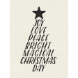 Christmas Day - JC Words White 3x4