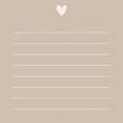 Nature Escape - JC Heart Tan 3x3 - UnTextured