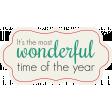 Winter Wonderland Christmas - Tag Wonderful