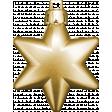 Winter Wonderland Christmas - Ornament Gold Star