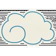 Love At First Sight - Cloud Sticker Blue