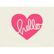 Love At First Sight - Journal Card Hello - Landscape
