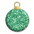 Green Glitter Bauble