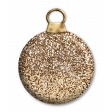 Dark Gold Glitter Bauble