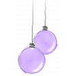 Purple watercolour baubles