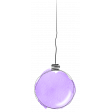 single purple watercolour bauble