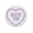 Lovehearts Bless You white