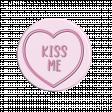 Lovehearts Kiss Me pink
