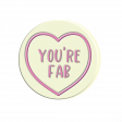 Lovehearts You're Fab yellow