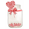 Mason Jar With Hearts and Lollipop