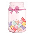 Mason Jar With Teddy Candies