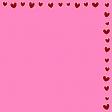 Multi hearts corner paper pink