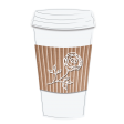 Takeaway Coffee Cup With Rose