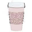 Takeaway Coffee Cup Vintage Floral Pink