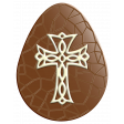 Easter Egg Chocolate with Filigree Cross