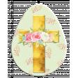 Easter Egg Floral Cross Green