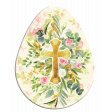 Easter Egg Floral Cross Pink