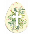 Easter Egg Floral Cross White