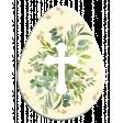 Easter Egg Floral Cross White