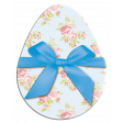 Easter Egg Floral with Blue Bow