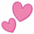 Fabric Hearts Pink