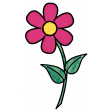 Stained Glass Pink Flower